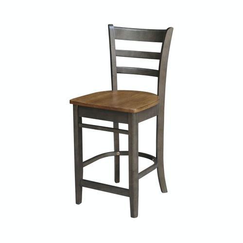 John Thomas Furniture - Emily Stool in Hickory Coal