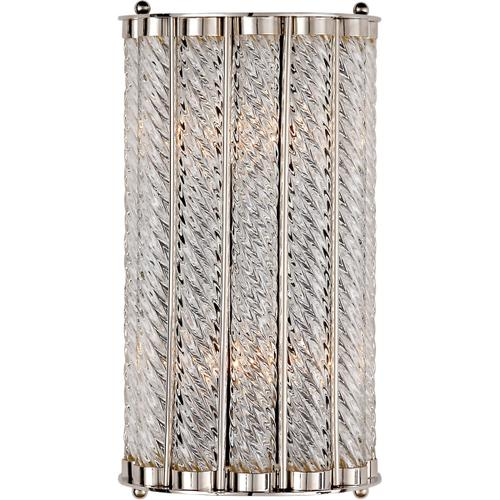 AERIN Eaton 2 Light 8 inch Polished Nickel Sconce Wall Light