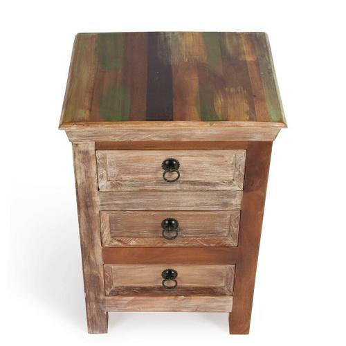 Butler Specialty Company - Crafted from recycled wood solids in a multi-colored hand-painted finish ensuring bonafide originality, this Accent Chest offers the faded colors of an heirloom as well as an alluring rustic charm.