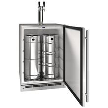 """See Details - 24"""" Keg Refrgierator With Stainless Solid Finish (115 V/60 Hz Volts /60 Hz Hz)"""