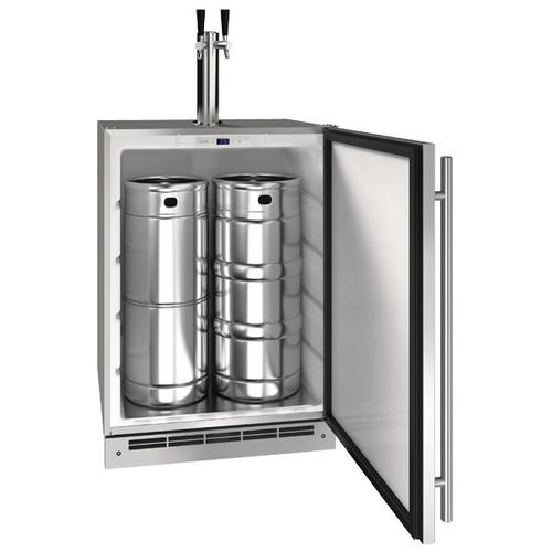 "U-Line - 24"" Keg Refrgierator With Stainless Solid Finish (115 V/60 Hz Volts /60 Hz Hz)"