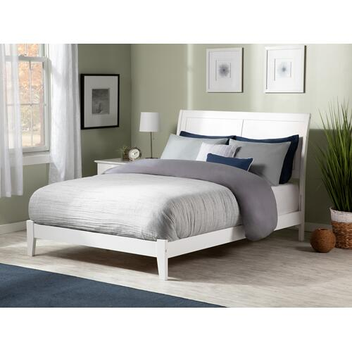 Portland Full Bed in White