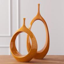 See Details - Open Oval Ring Vase-Orange