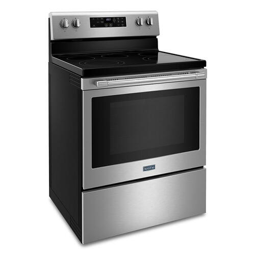 Maytag - Electric Range with Air Fryer and Basket - 5.3 cu. ft.