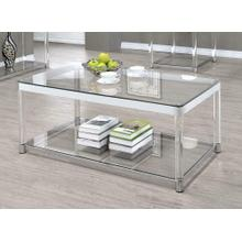 View Product - Contemporary Chrome Coffee Table