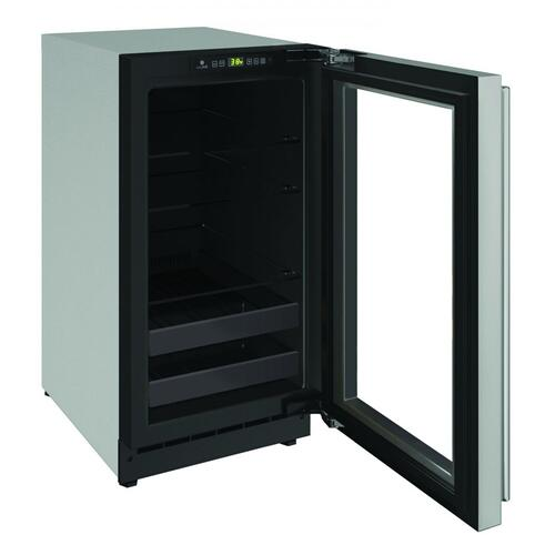 "2218bev 18"" Beverage Center With Stainless Frame Finish and Left-hand Hinge Door Swing (115 V/60 Hz Volts /60 Hz Hz)"