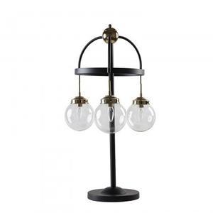 Stella Table Lamp/Metal+Glass/Polished Brass+Matte Black/19.7*19.7*32.7