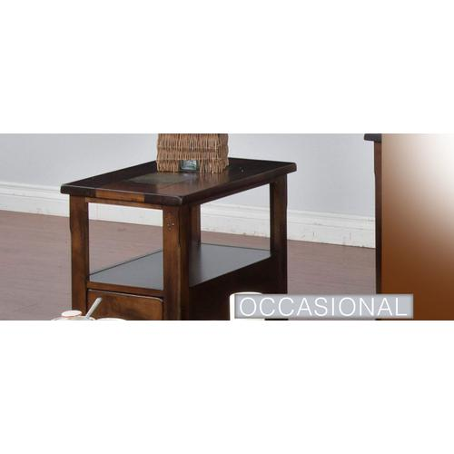 Santa Fe Coffee Table w/ Drawers & Casters