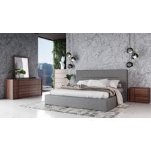See Details - Nova Domus Juliana - Italian Modern Grey Upholstered Bed