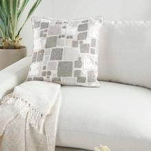 "Sofia Pn628 Ivory/silver 20"" X 20"" Throw Pillow"