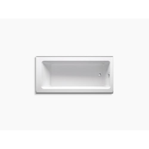 "White 66"" X 32"" Alcove Bath With Integral Apron and Right-hand Drain"
