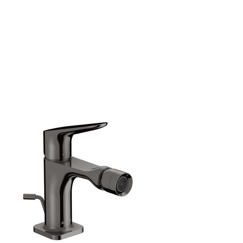 Polished Black Chrome Single lever bidet mixer with pop-up waste set