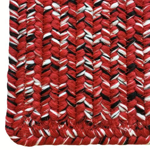 Team Spirit Red Black Braided Rugs