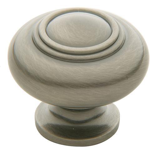 Baldwin - Antique Nickel Ring Deco Knob