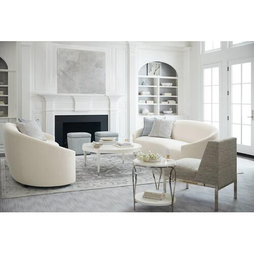 Calista Round Cocktail Table in Silken Pearl (388)