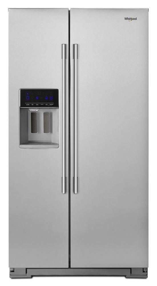 Whirlpool36-Inch Wide Contemporary Handle Counter Depth Side-By-Side Refrigerator - 21 Cu. Ft.