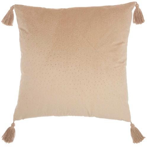 "Life Styles Et093 Beige 24"" X 24"" Throw Pillow"