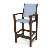 Mahogany & Poolside Coastal Bar Chair