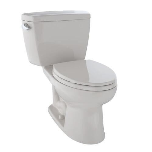 Eco Drake® Two-Piece Toilet, 1.28 GPF, Elongated Bowl - Sedona Beige
