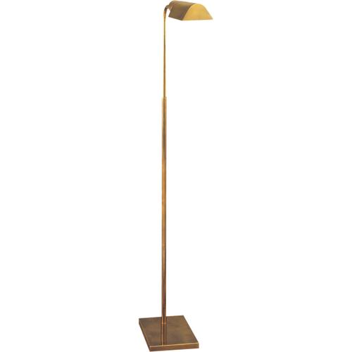 """Studio Classic 34 inch 60 watt Hand-Rubbed Antique Brass Task Floor Lamp Portable Light, Shade is 3.5"""" by 6 by 2"""
