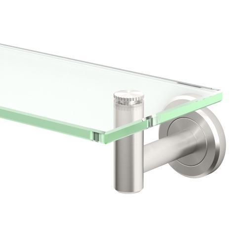 Latitude2 Glass Shelf in Satin Nickel