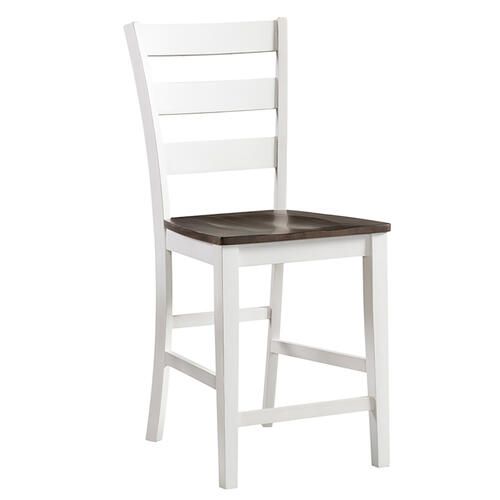 Kona Ladder Stool  Gray and White