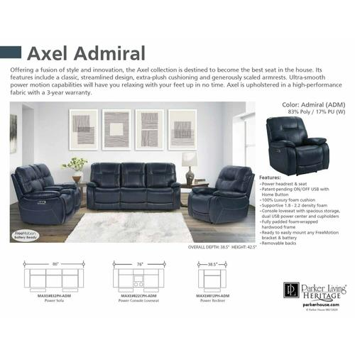 Parker House - AXEL - ADMIRAL Power Reclining Collection