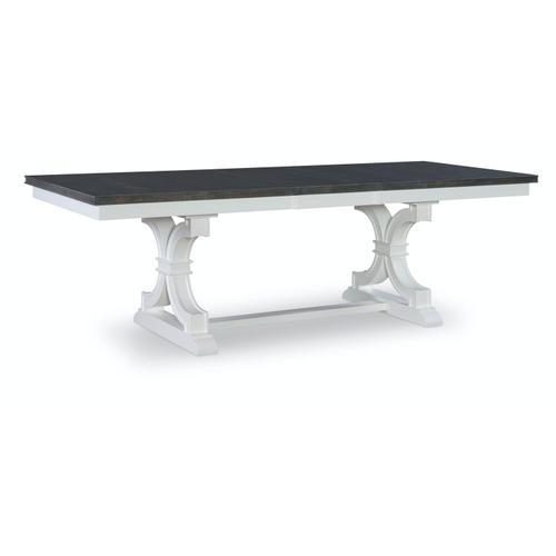 John Thomas Furniture - Extension Table in Heather Gray & White