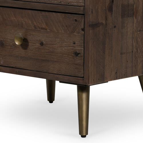 Bohemian Nightstand-rustic Saddle Tan