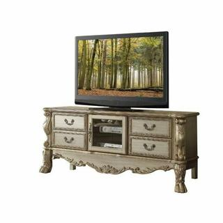 ACME Dresden TV Console - 91333 - Gold Patina & Bone