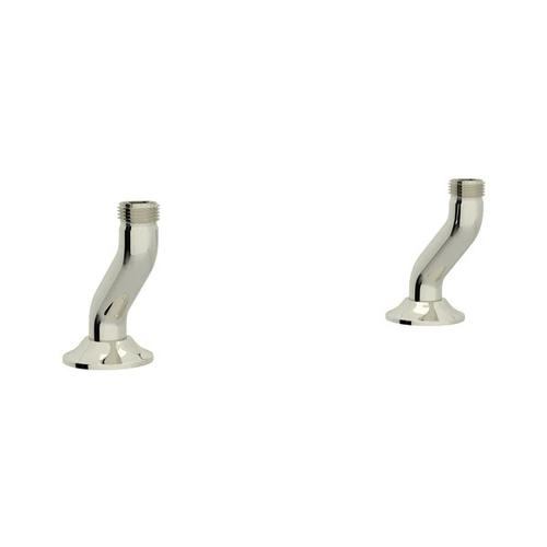 Georgian Era Deck Unions for Bridge Faucet - Polished Nickel