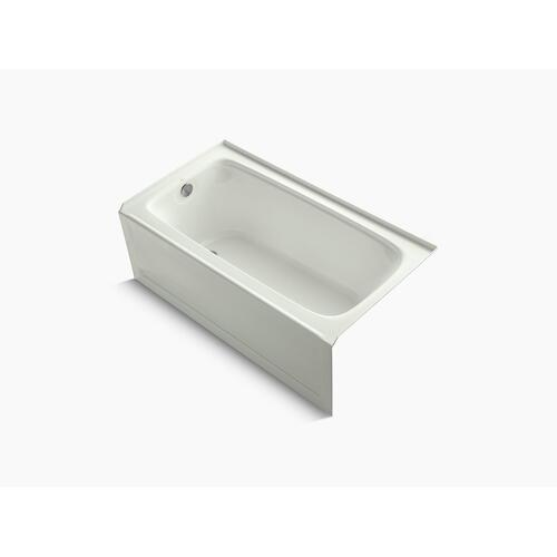 """Dune 60"""" X 32"""" Alcove Bath With Bask Heated Surface, Integral Apron, and Left-hand Drain"""