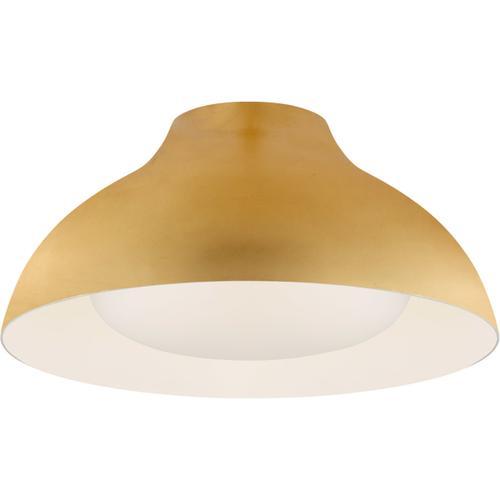 Visual Comfort - AERIN Agnes LED 15 inch Gild Flush Mount Ceiling Light