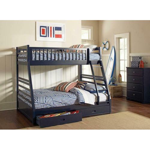 Coaster - Ashton Navy Twin-over-full Bunk Bed
