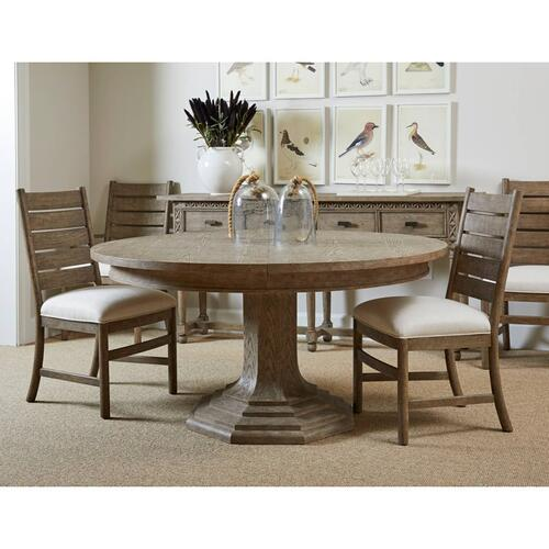 "Portico 60"" Round Dining Table - Shell"