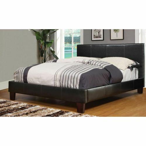 "Worldwide Homefurnishings - Volt 54"" Double Platform Bed in Brown"