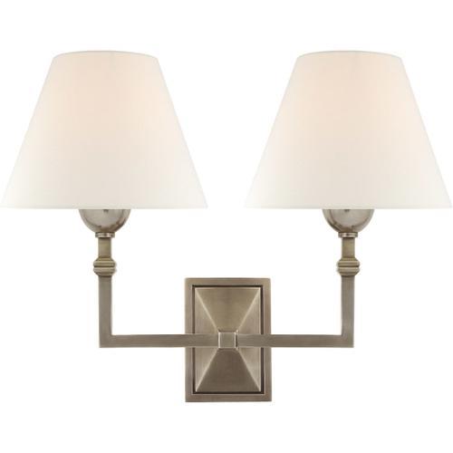 Visual Comfort - Alexa Hampton Jane 2 Light 13 inch Antique Nickel Double Sconce Wall Light