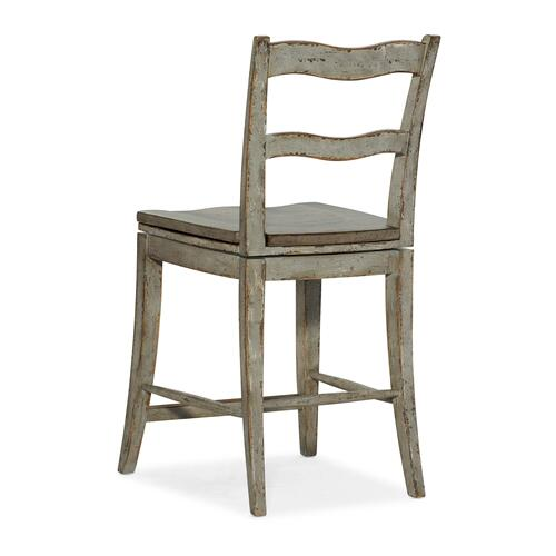 Hooker Furniture - Alfresco La Riva Ladder Back Swivel Counter Stool