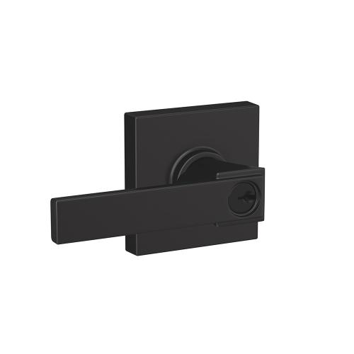 Northbrook lever with Collins trim Keyed Entry lock - Matte Black