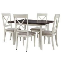 See Details - Dining Table and 4 Chair- 5/CTN - Gray/Alabaster Finish