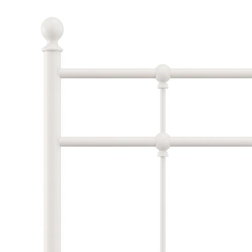 Hillsdale Furniture - Providence Metal Twin Headboard and Frame, Soft White