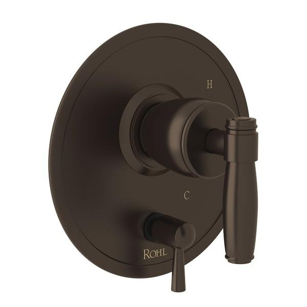 Tuscan Brass Zephyr Pressure Balance Trim With Diverter with Metal Lever Zephyr Series Only