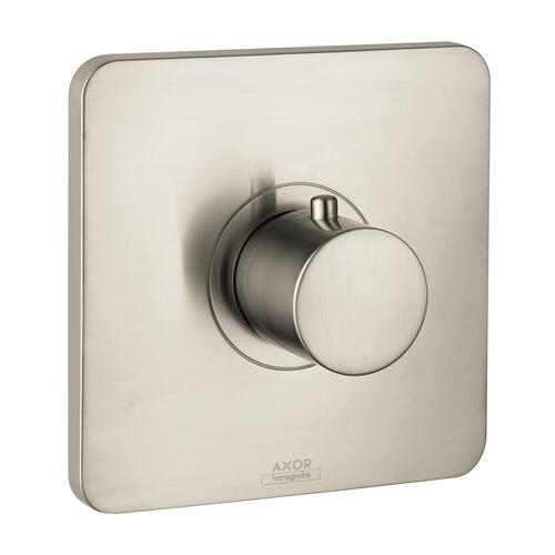 Brushed Nickel Thermostat for concealed installation