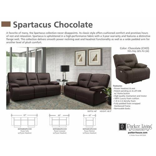 Parker House - SPARTACUS - CHOCOLATE Power Loveseat