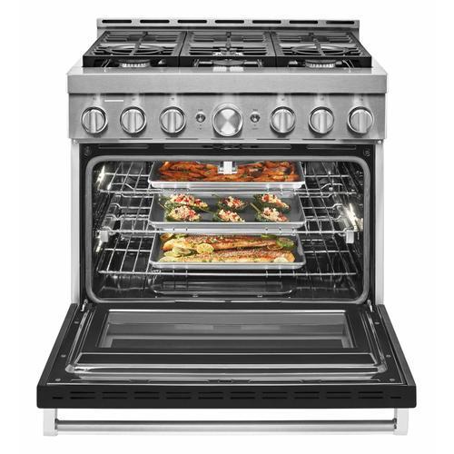 KitchenAid - KitchenAid® 36'' Smart Commercial-Style Gas Range with 6 Burners - Imperial Black