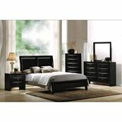 ACME Ireland I Queen Bed - 04153Q - Black PU & Black