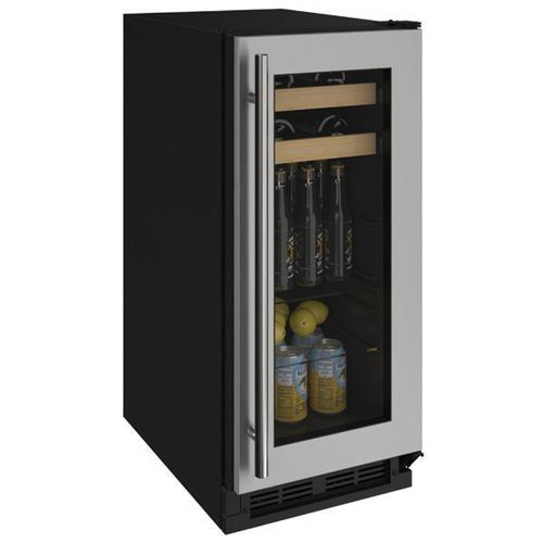 "15"" Beverage Center With Stainless Frame Finish (115 V/60 Hz Volts /60 Hz Hz)"