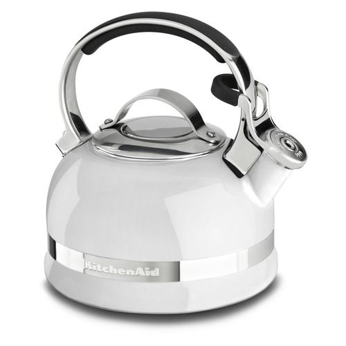 KitchenAid - 2.0-Quart Stove Top Kettle with Full Stainless Steel Handle White