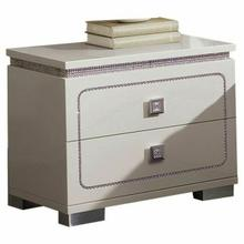 ACME Valentina Nightstand - 20253 - White High Gloss