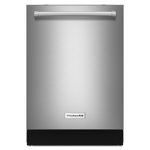 KitchenAid - 44 dBA Dishwasher with Dynamic Wash Arms and Bottle Wash Stainless Steel